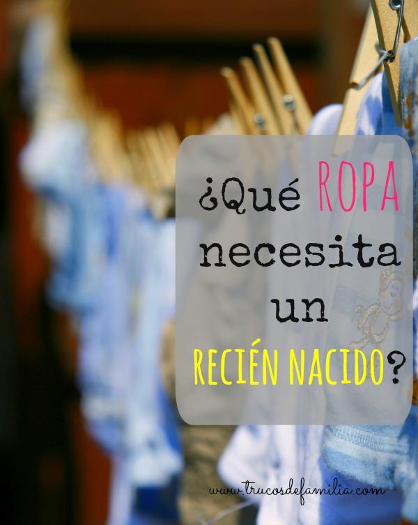 Qué ropa necesita un recién nacido