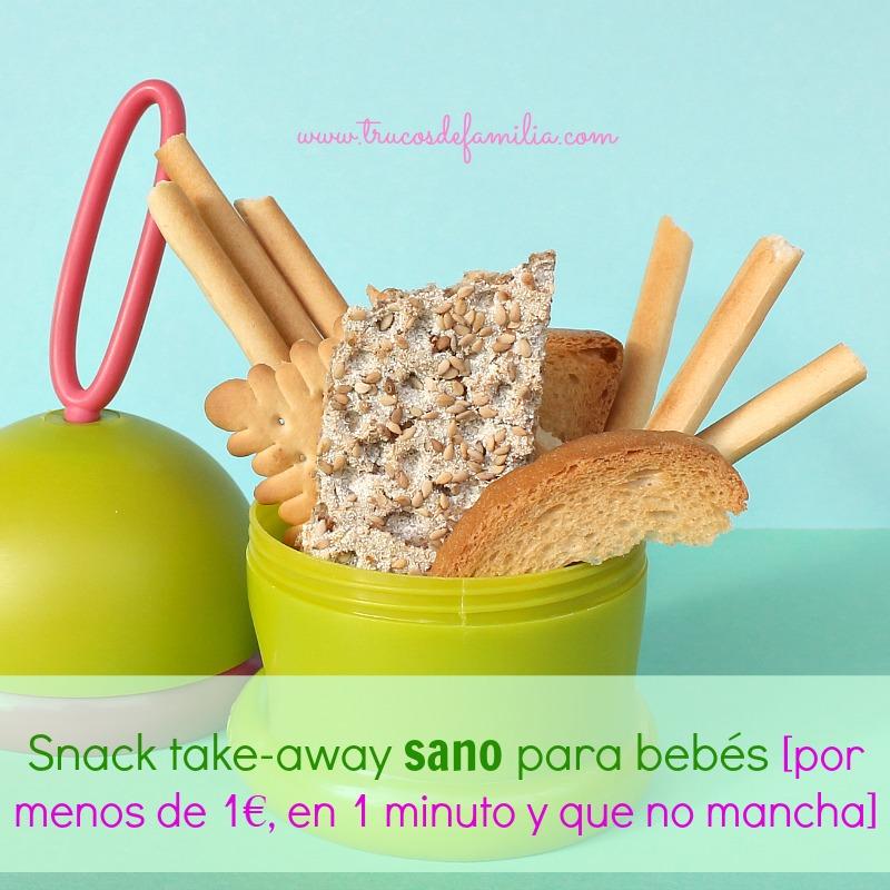 Snack para el paseo para bebés y niños pequeño. Barato, sano y limpio