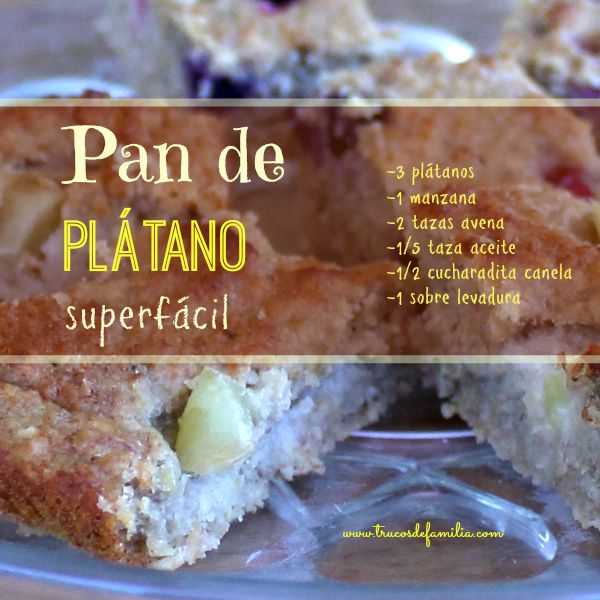 Pan de plátano por trucosdefamilia.com