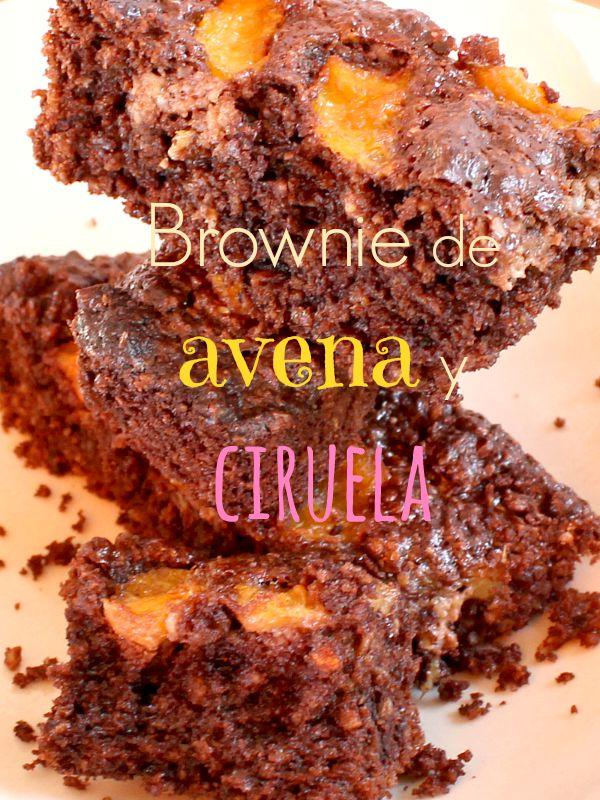 Brownie de avena y ciruela sin mantequilla