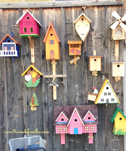 casitas pájaros