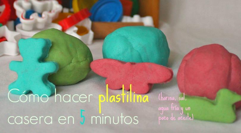Cómo hacer plastilina casera en cinco minutos