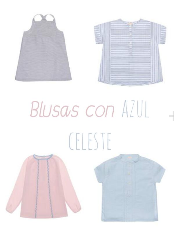 Blusas con azul celeste