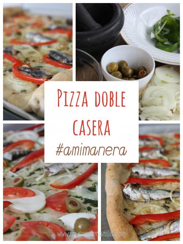Pizza doble casera