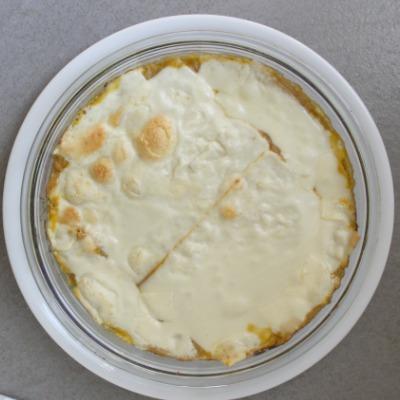 Lasaña de verduras y queso ya horneada