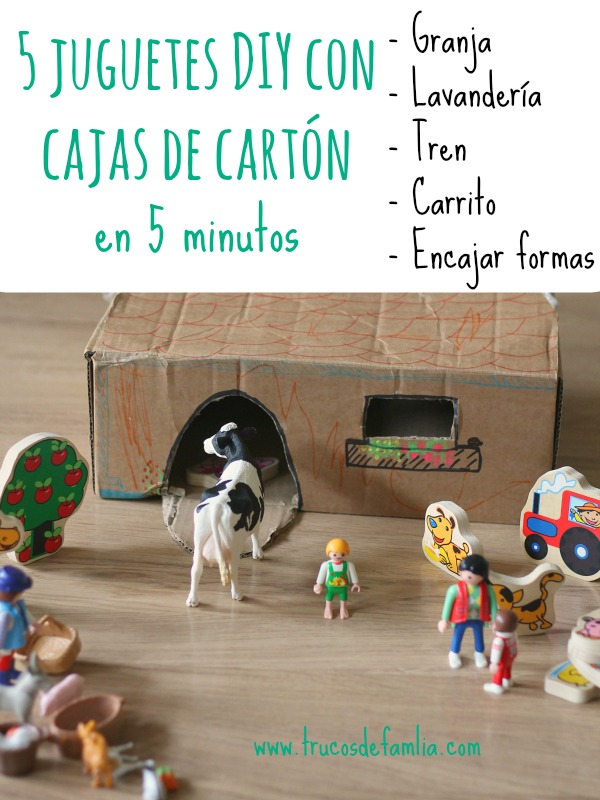 5 juguetes DIY con cajas de cartón en 5 minutos