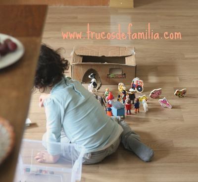 DIY Granja con caja de cartón