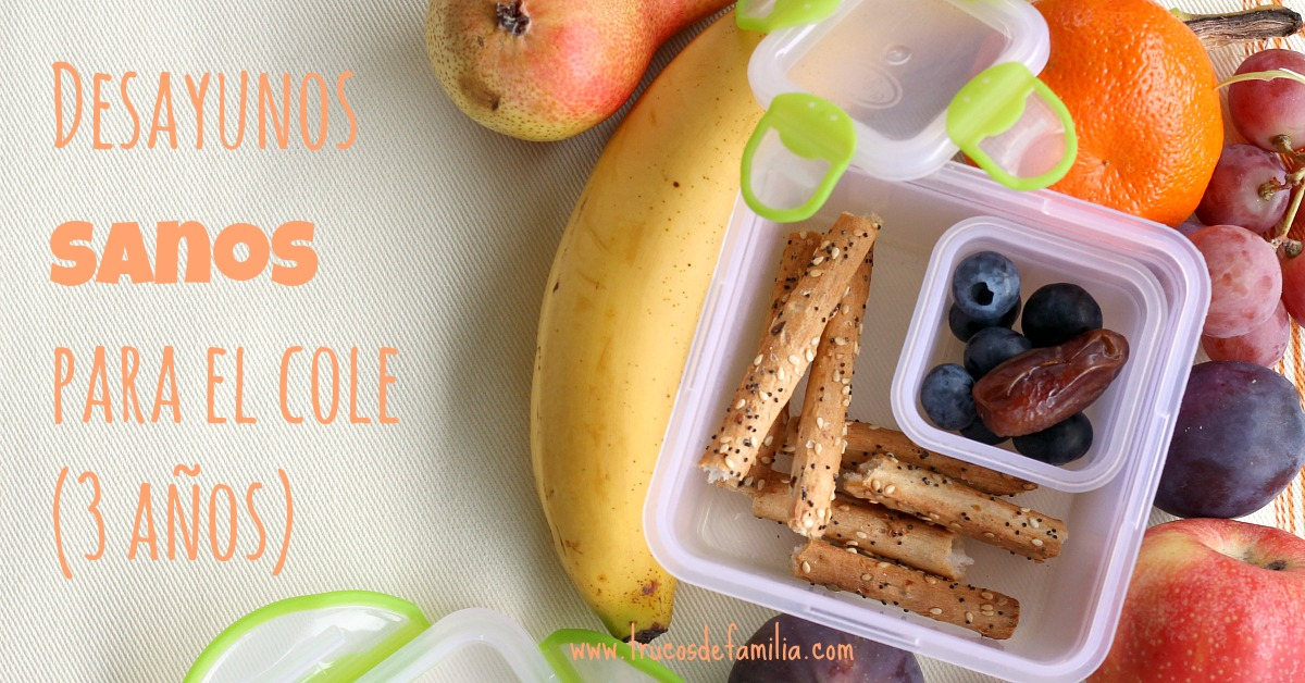 Desayunos sanos para el cole de 3 años