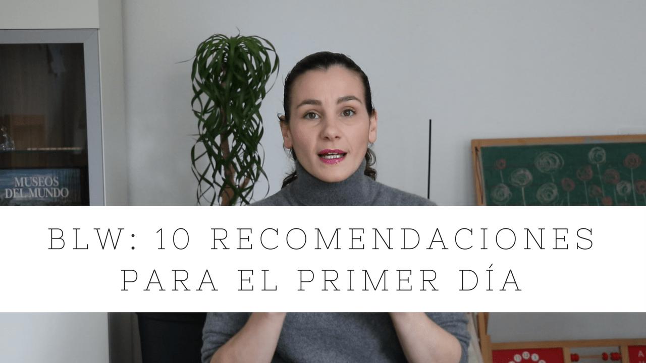 BLW 10 recomendaciones para el primer día