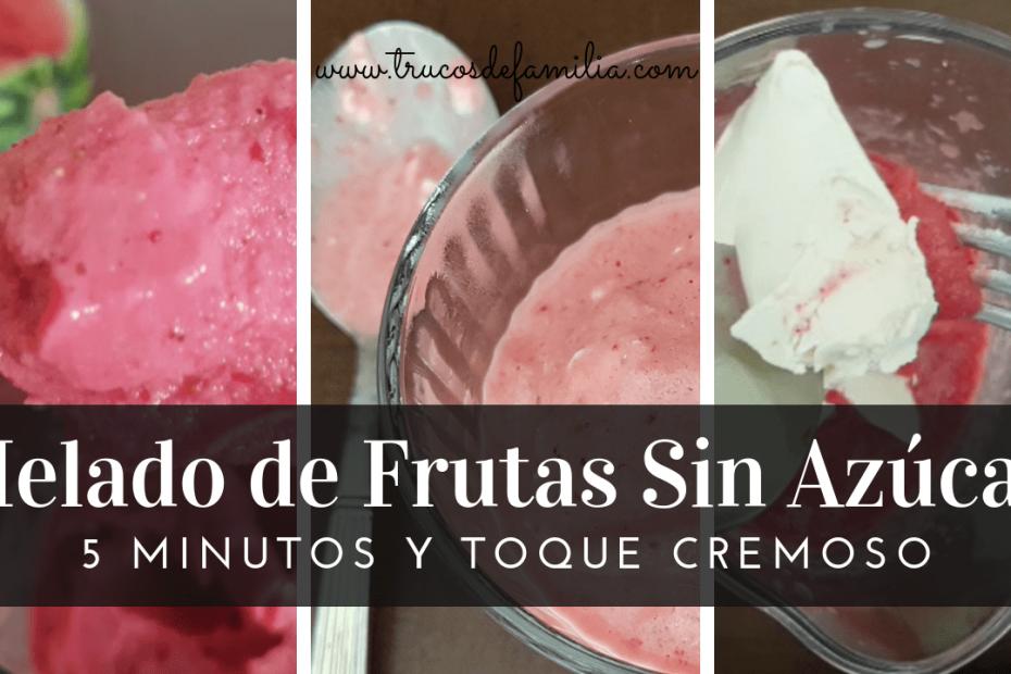 Helado de frutas sin azúcar