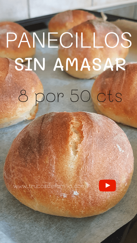 Bollos de pan caseros fáciles