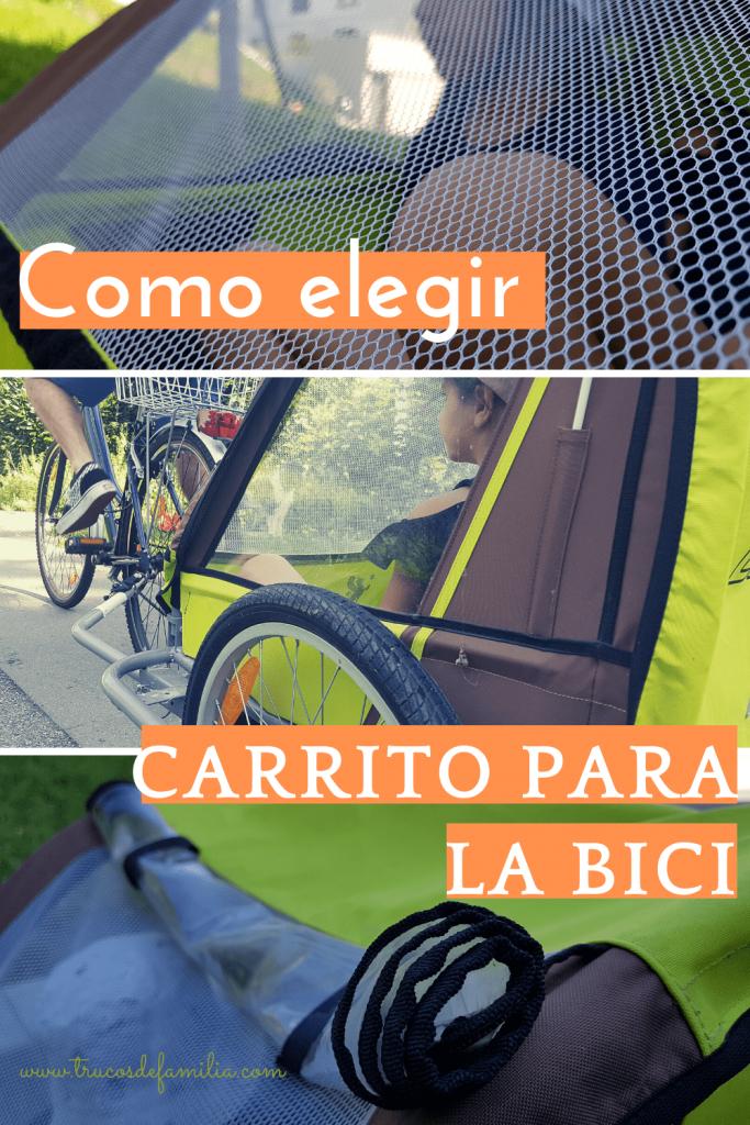 Carrito de bicicleta con niños