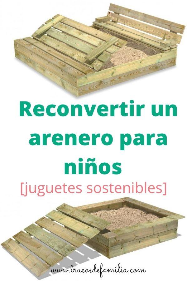 areneros para niños de madera con asiento y tapa