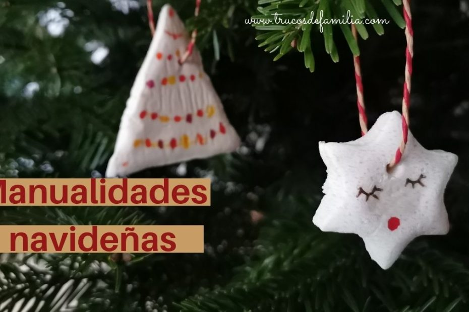 Manualidades navideñas con masa de sal